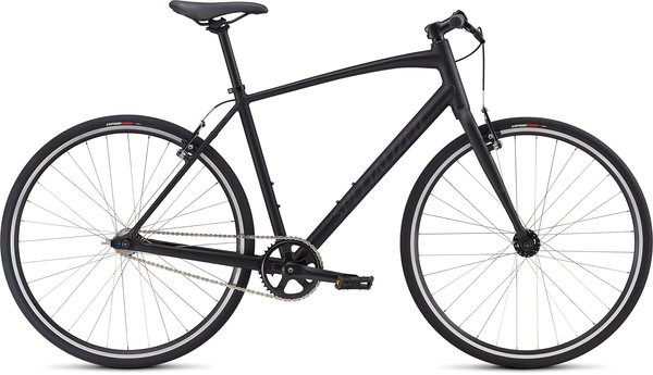 Specialized Men's Sirrus Single Speed Color: Satin Gloss Black/Black/Back Reflective