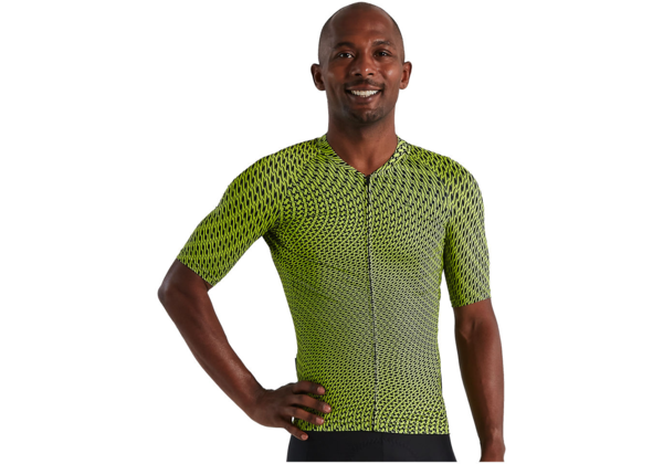 Specialized Men's SL Bicycledelics Short Sleeve Jersey Color: Hyper Green/Black