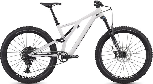 Specialized Men's Stumpjumper Comp Alloy 27.5 – 12-Speed Color: Gloss White / Tarmac Black