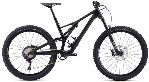 Specialized Men's Stumpjumper Comp Carbon 27.5-inch Color: Carbon/Monster Green