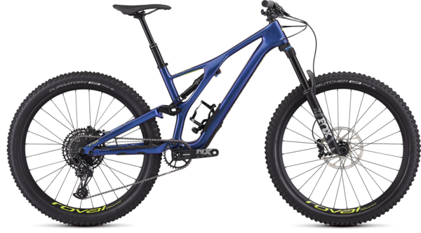 Specialized Men's Stumpjumper Comp Carbon 27.5 - 12-Speed Color: Gloss Chameleon / Hyper