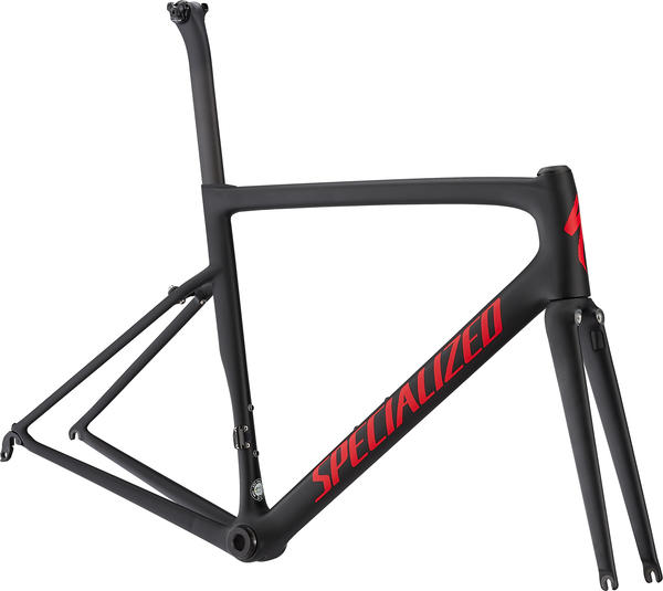 Specialized Men's Tarmac Pro Frameset Color: Black/Gloss Flo Red/Clean