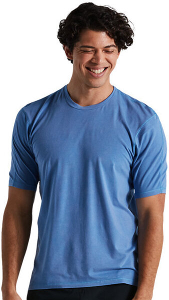 Specialized Men's Trail Supima Mineral Wash Short Sleeve Jersey Color: Sky Blue