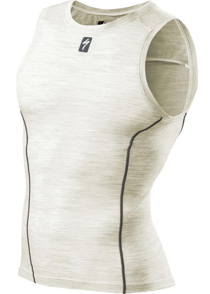 Specialized Merino Sleeveless Tech Layer Color: Natural White