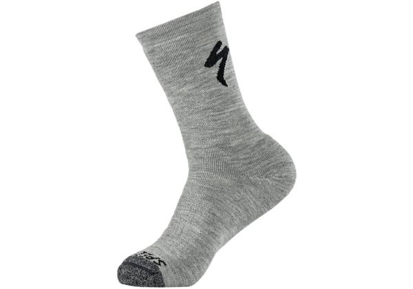 Specialized Merino Deep Winter Tall Sock Color: Dove Grey