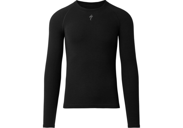 Specialized Merino Seamless Long Sleeve Base Layer Color: Black