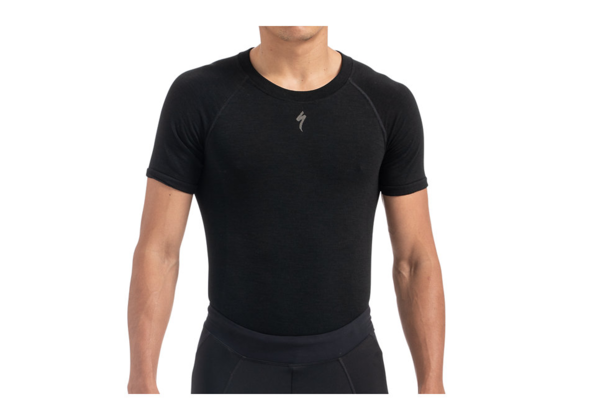 Specialized Merino Seamless Short Sleeve Base Layer Color: Black