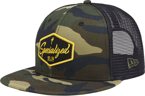 Specialized Electro New Era 9Fifty Snapback Hat Color: Camo/Black/Burnt Yellow