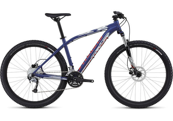 Specialized Pitch Sport 650B Color: Gloss Deep Blue/Dirty White/Rocket Red