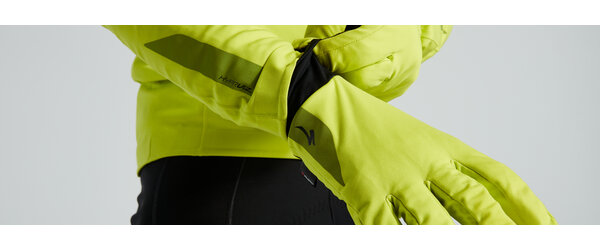 Specialized Prime Series Waterproof Glove Color: HyperViz