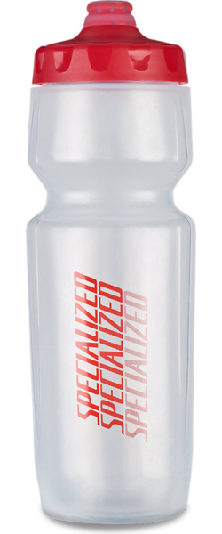 Specialized Purist Hydroflo Fixy Water Bottle - Diffuse Color: Translucent/Red