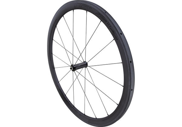 Roval CLX 40 Tubular Wheels Color | Model: Satin Carbon/Gloss Black | Front