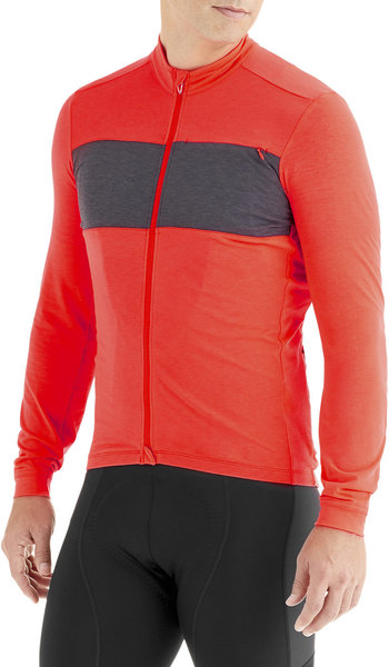 Specialized RBX Drirelease Merino Long Sleeve Jersey Color: Rocket Red/Carbon