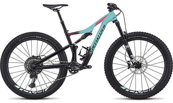Specialized Rhyme Expert Carbon 6Fattie/29 Color: Gloss Acid Mint Fade/Black/Acid Pink