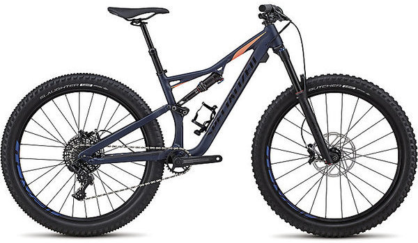 Specialized Rhyme Comp 6Fattie/29 Color: Satin Gloss Cast Blue/Acid Lava