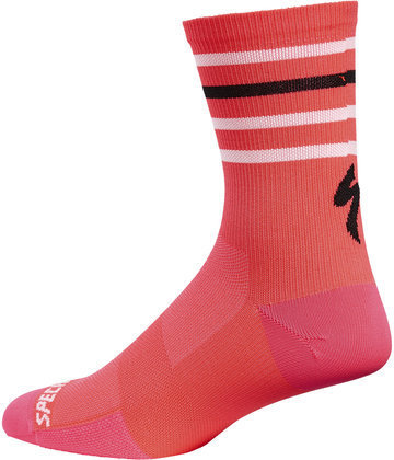 Specialized Road Tall Socks Color: Acid Red