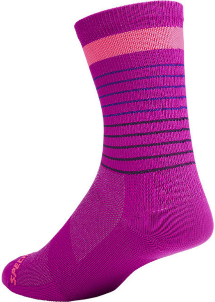 Specialized Road Tall Socks Color: Berry