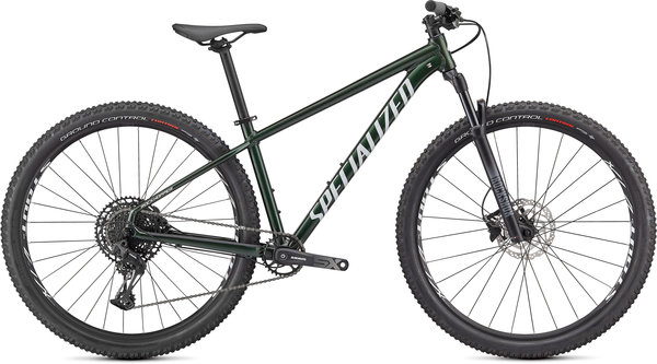 Specialized Rockhopper Expert 27.5 Color: Gloss Oak Green Metallic/Metallic White Silver