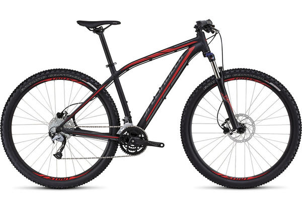 Specialized Rockhopper Sport 29 Color: Satin Black/Flo Red/Charcoal