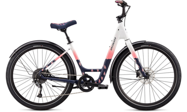 Specialized Roll Elite Low-Entry LTD – Lobster Roll Color: Gloss White/Pink/Satin Ferrari Blue