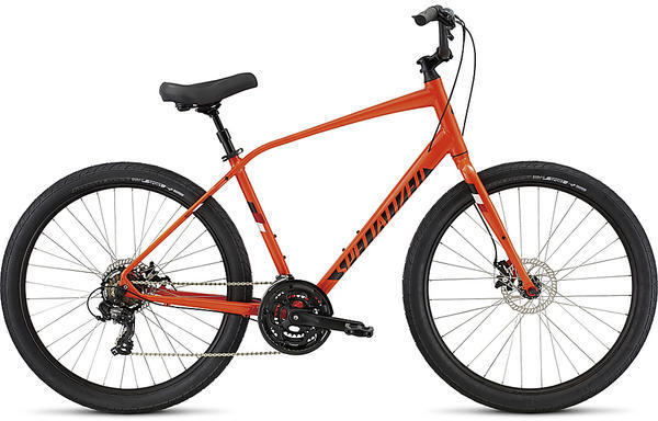 Specialized Roll Sport Color: Moto Orange/Red/Metallic White Silver Reflective