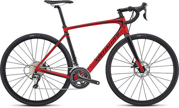 Specialized Roubaix Color: Gloss Flo Red/Tarmac Black