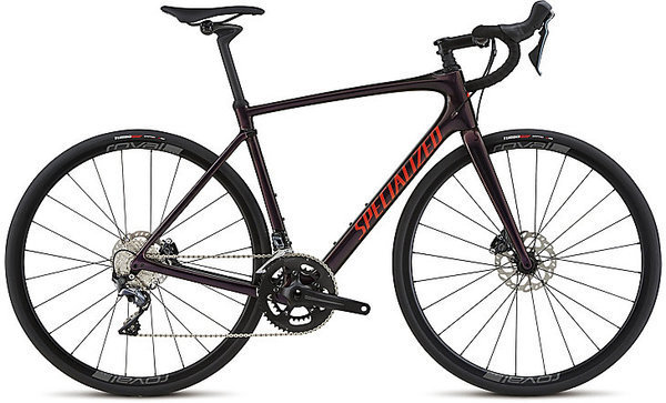 Specialized Roubaix Comp Color: Gloss Sunset Cham/Tar Blk Edge Fade/Rkt Red/Clean