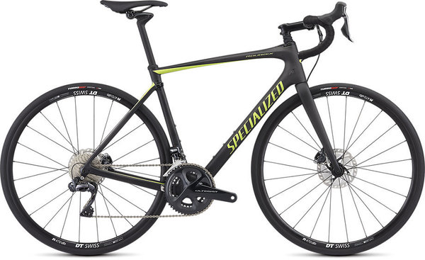 Specialized Roubaix Comp–Ultegra Di2 Color: Satin Carbon/Hyper