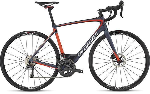 Specialized Roubaix Expert Color: Satin Ink/Rocket Red/Silver