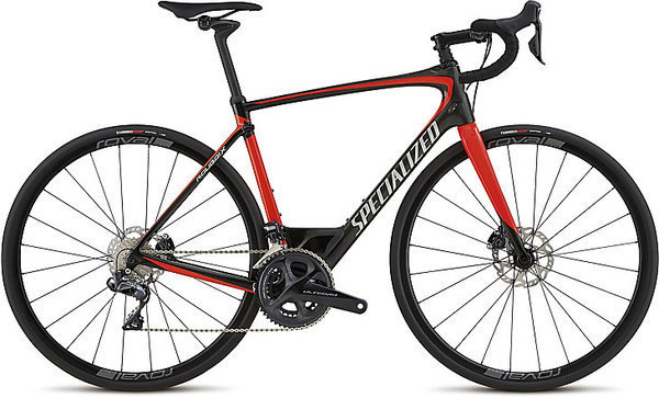Specialized Roubaix Expert Ultegra Di2 Color: Gloss Carbon/Rocket Red/Kool Silver