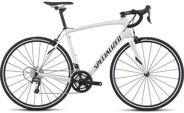 Specialized Roubaix SL4 Color: Gloss Met. White Silver/Tarmac Black/Clean