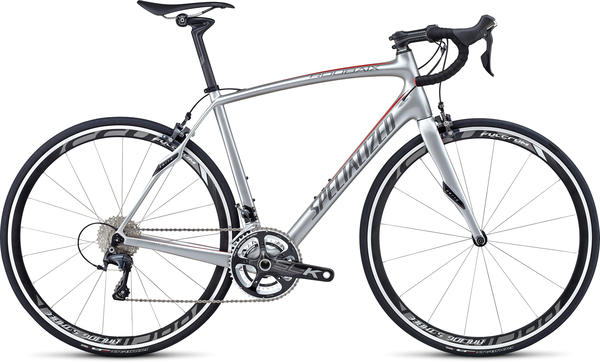Specialized Roubaix SL4 Expert Color: Silver/Charcoal/Red