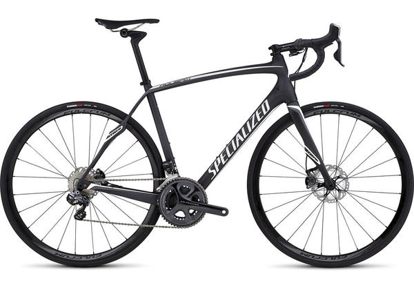 Specialized Roubaix SL4 Expert Disc UDi2 Color: Satin Carbon/White/Charcoal