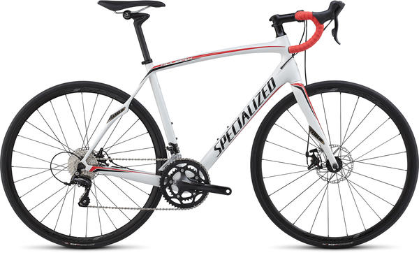 Specialized Roubaix SL4 Disc Color: Gloss White/Black/Red