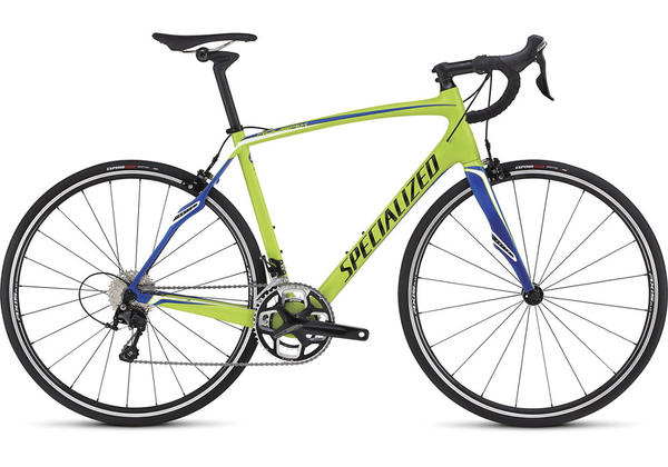 Specialized Roubaix SL4 Sport Color: Gloss Hyper/Team Blue/Black