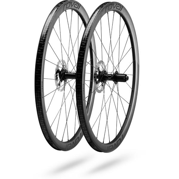 Roval Rapide C38 Disc Wheelset Color: Satin Carbon/Black