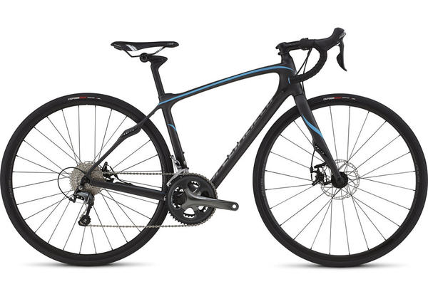 Specialized Ruby Disc - Women's Color: Satin Silver Carbon Tinted/Prl Cyan/Shadow Silver