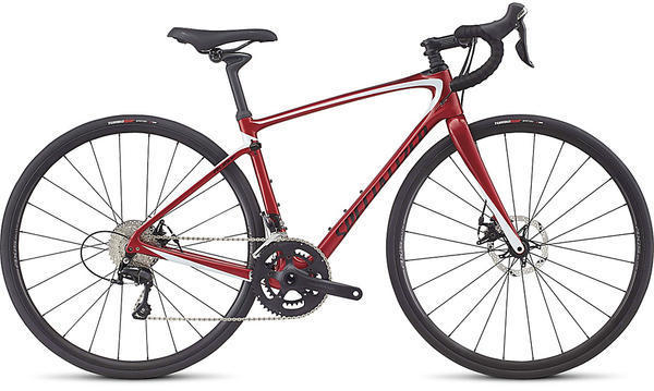 Specialized Ruby Elite Color: Gloss Candy Red/Baby Blue/Black