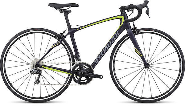 Specialized Ruby SL4 Comp Ultegra Di2 - Rim Brake Color: Satin Deep Indigo/Hyper/Cool Grey