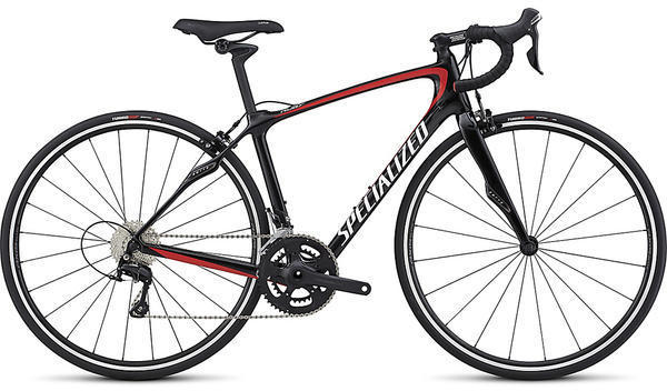 Specialized Ruby SL4 Sport - Rim Brake Color: Gloss Carbon/White/Nordic Red