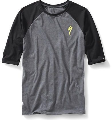 Specialized S 3/4 T-Shirt Color: Carbon