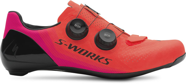 Specialized S-Works 7 Road Shoes Color: Acid Lava/Acid Purple