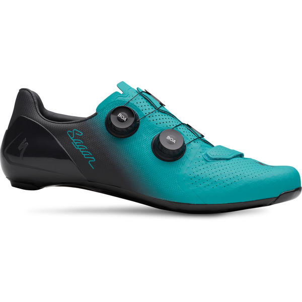 Specialized S-Works 7 Shoes Sagan Collection LTD Color: Teal