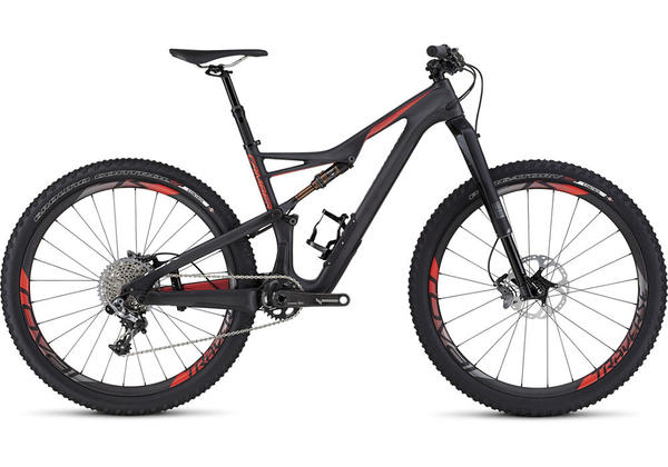 Specialized S-Works Camber 650b Color: Satin/Gloss Carbon Rocket Red/Flored