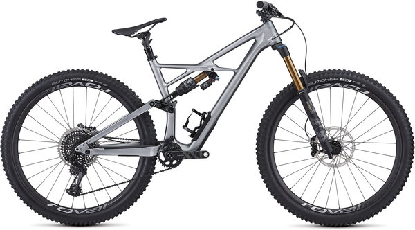 Specialized S-Works Enduro 29 Color: Gloss Flake Silver Form Fade/Tarmac Black