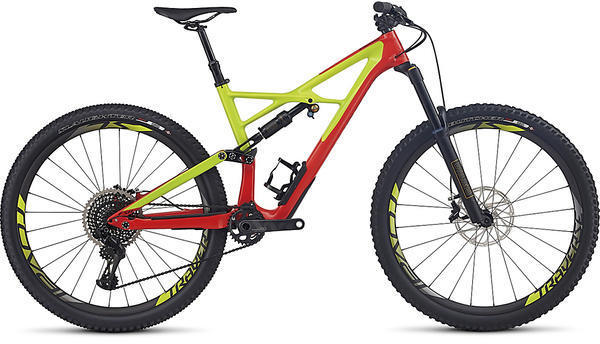 Specialized S-Works Enduro 29 6Fattie Color: Gloss Nordic Red/Hyper/Black