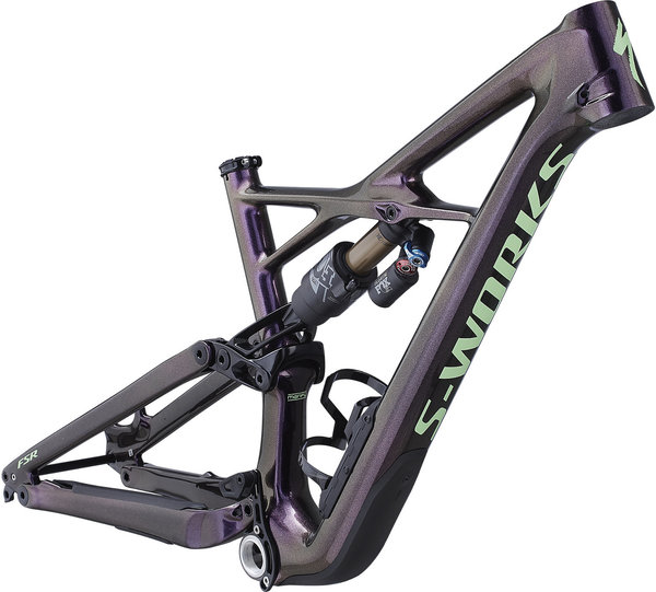 Specialized S-Works Enduro 27.5 Frameset Color: Gloss Sunset/Acid Kiwi