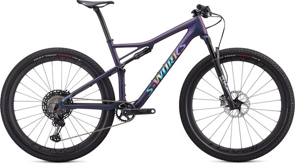 Specialized S-Works Epic Carbon Shimano XTR Color: Satin Chameleon Supernova/Holographic Reflective