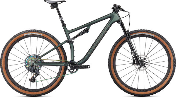 Specialized S-Works Epic EVO Color: Gloss Oak Green Metallic/Diamond Dust