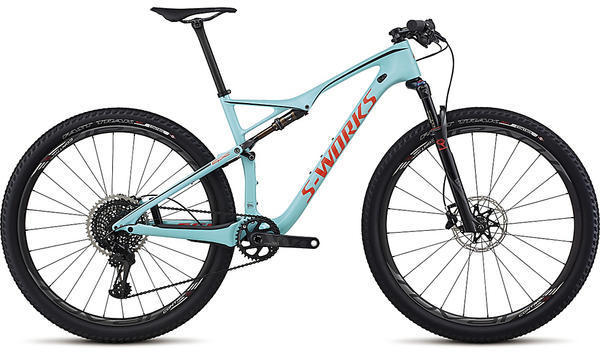 Specialized S-Works Epic FSR World Cup Color: Gloss Teal/Rocket Red/Black